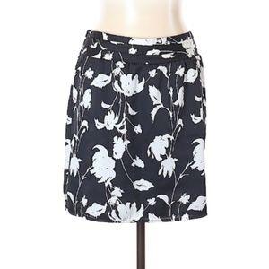 Ann Taylor LOFT B & W Printed Skirt